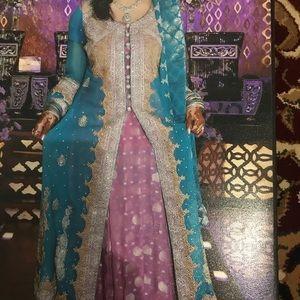 Indian Pakistani bridal maxi evening gown